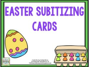 easter subitizing videos