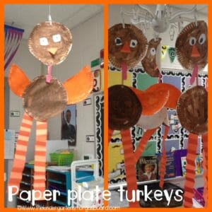paper plate turkeys