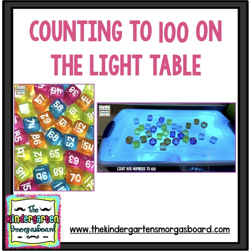 light table counting to 100