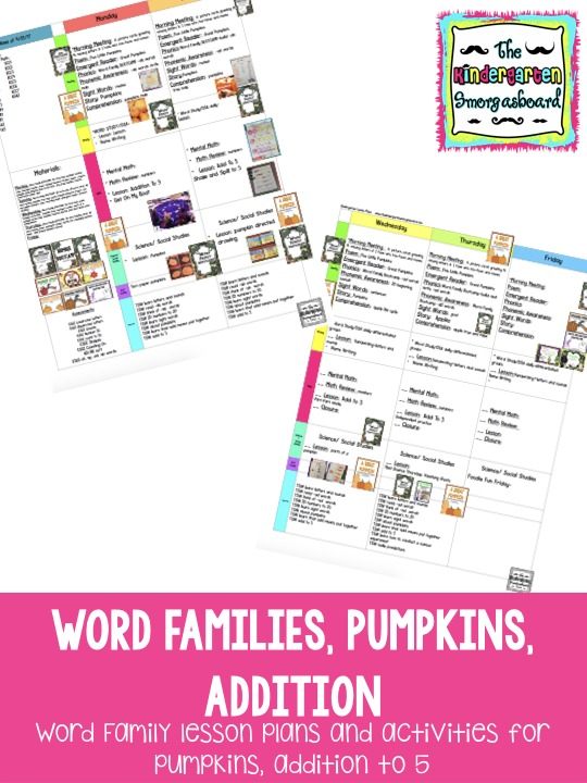 kindergarten pumpkins activities