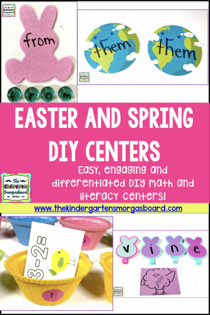 Easter and Spring DIY math and literacy centers!