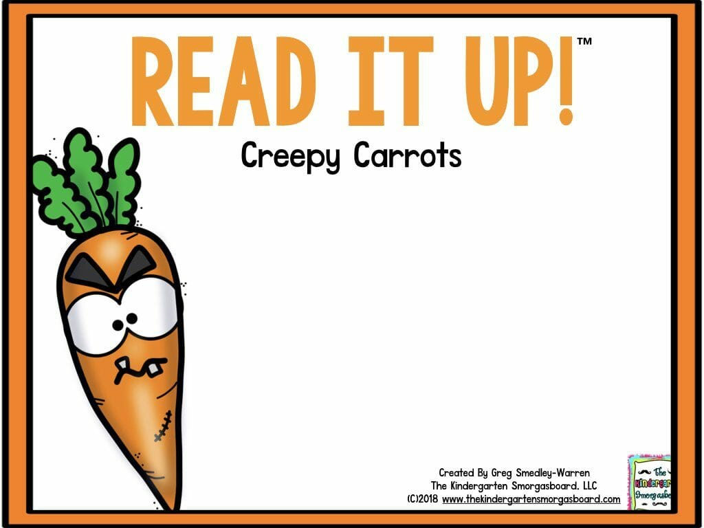creepy carrots lesson plans